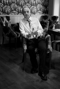 Journalist John Keenan photographed in The Lounge, Penrith