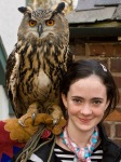Harriet with Robyn Eagle Owl