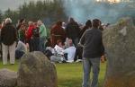 crowds gather for sunrise