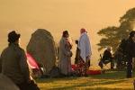 sun shine at castlerigg stone circle