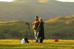 waiting and watching the sunrise at castlerigg