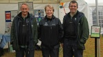 Countryside Rangers (left) Geoff Fewkes and Tony Burns with Volunteer Eve Baker