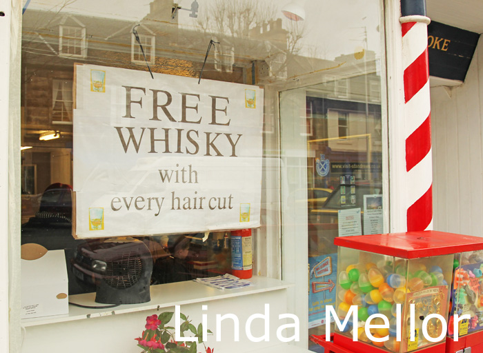 only in scotland free whisky with every haircut linda mellor