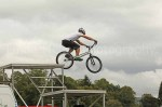 Great bike control demonstrated by the Stunt Cyclists