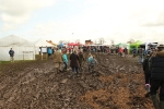 Inside the show ground, more mud.