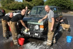 Firemen of Cupar Fire station with my Range Rover