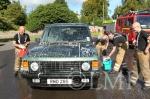 Firemen soap up the Range Rover