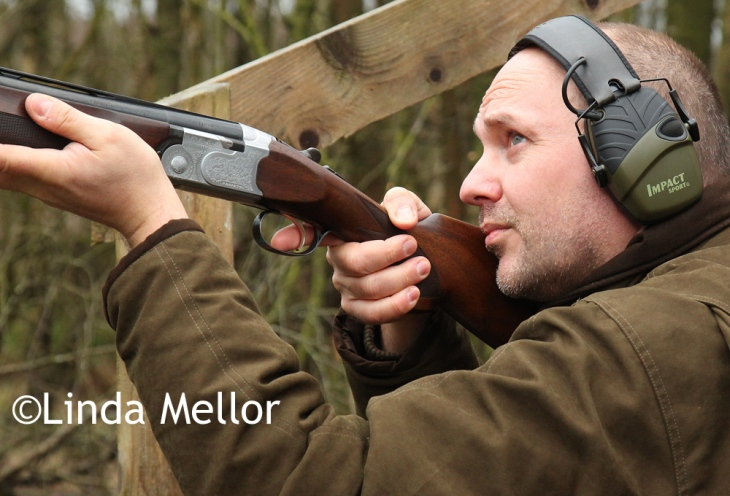 Shooting clays at Cluny Clays, Fife
