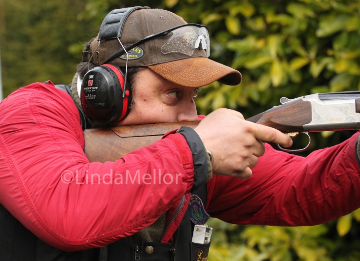 Andy Thomson focused on shooting clays