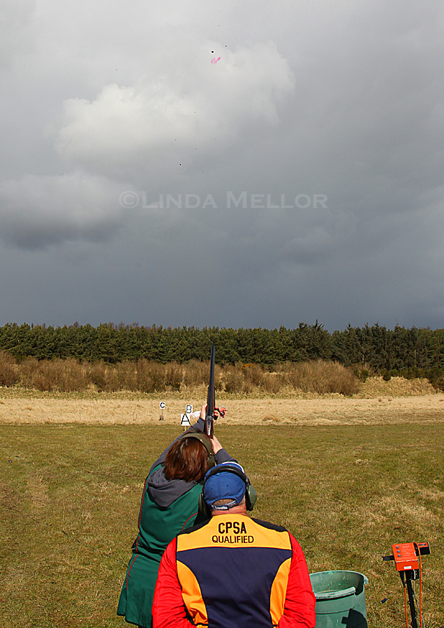 Clay shooting lesson with Ron Maxwell, Scottish Clay Shooting Centre, Fife