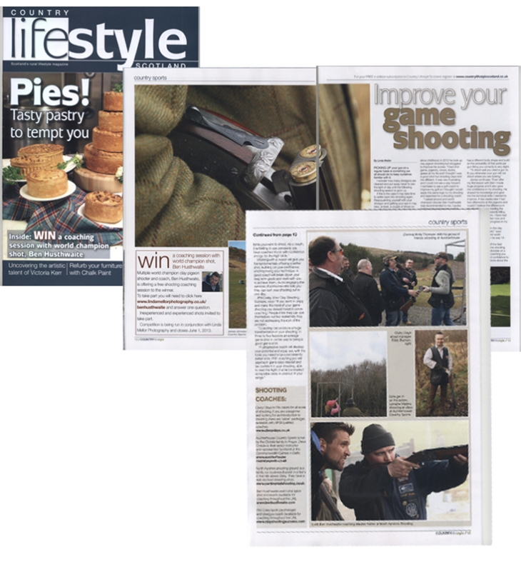 My feature 'improve your game shooting' Scottish Farmer's Country LifeStyle Magazine, out now.