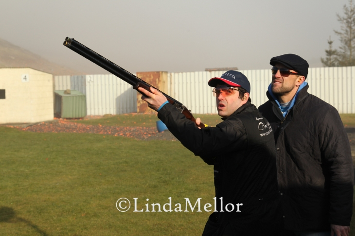 Ben Husthwaite coaching Ben McKillop, North Ayrshire Shooting Ground