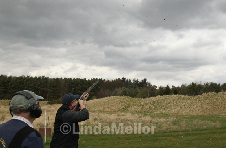 Breaking Clays at Scottish Clay Shooting Centre