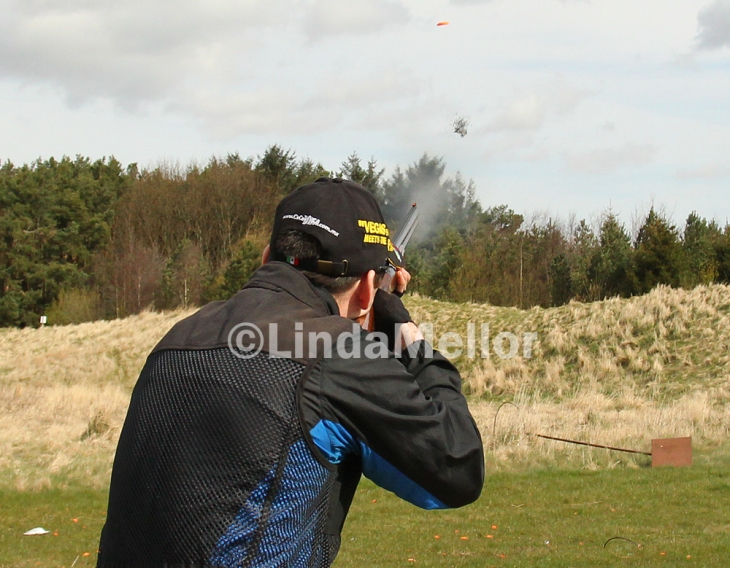 Capturing the action when the trigger is pulled shooting clays