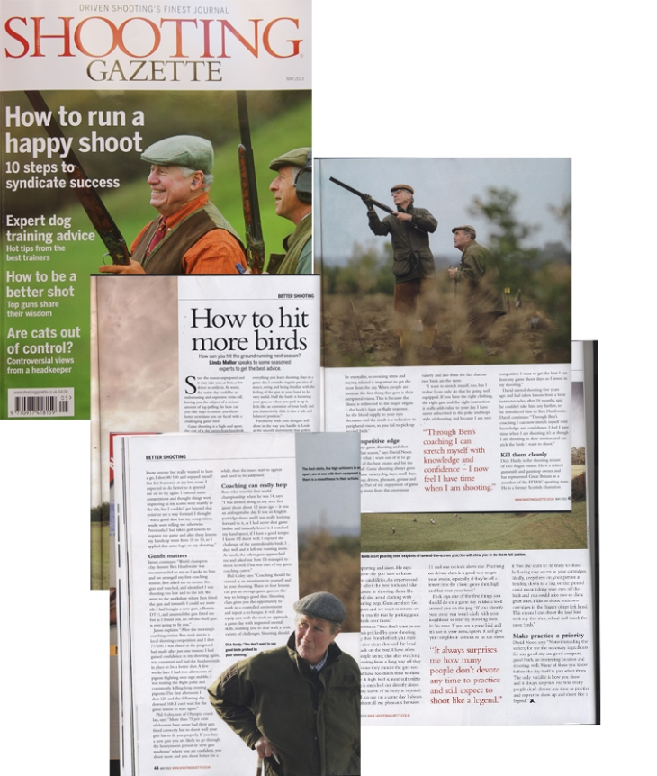 My improve your game shooting feature in the May issue of Shooting Gazette
