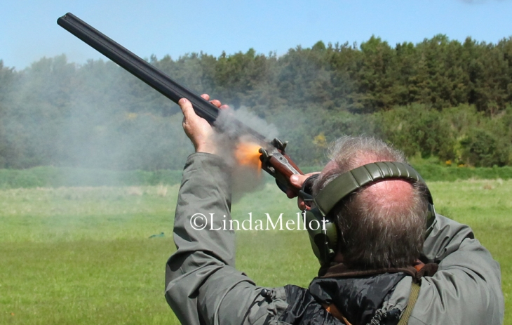 Black powder muzzle loading shotgun shooting competition, Fife