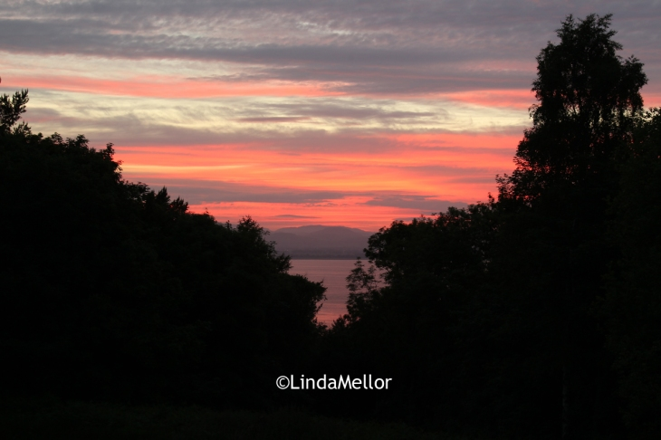 Tuesday 18th June, sunset over the Tay