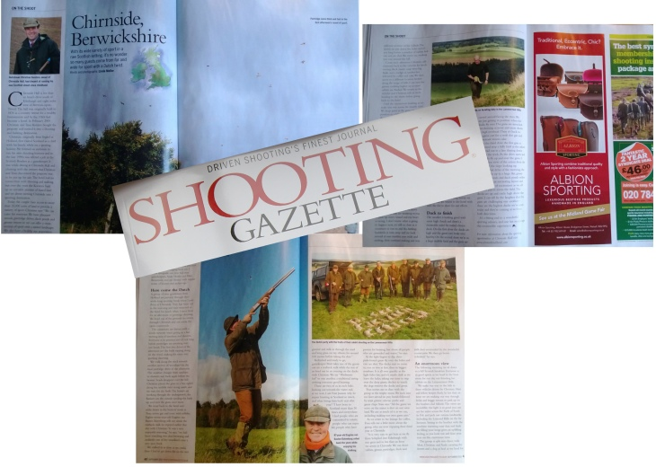 chirnside shooting and stalking feature in the shooting gazette