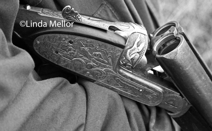 engraved game gun