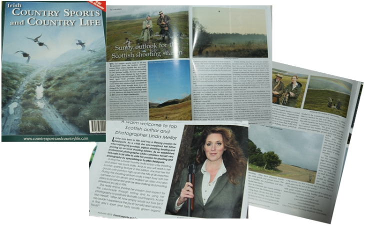 Irish Country Sports and Country Life Magazine, shooting feature by Linda Mellor
