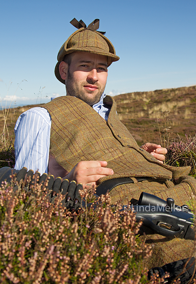 Shooting man 2014 calendar - another photo-shoot in the bag. Today's model was Johnny Readhead, Deerstalker.