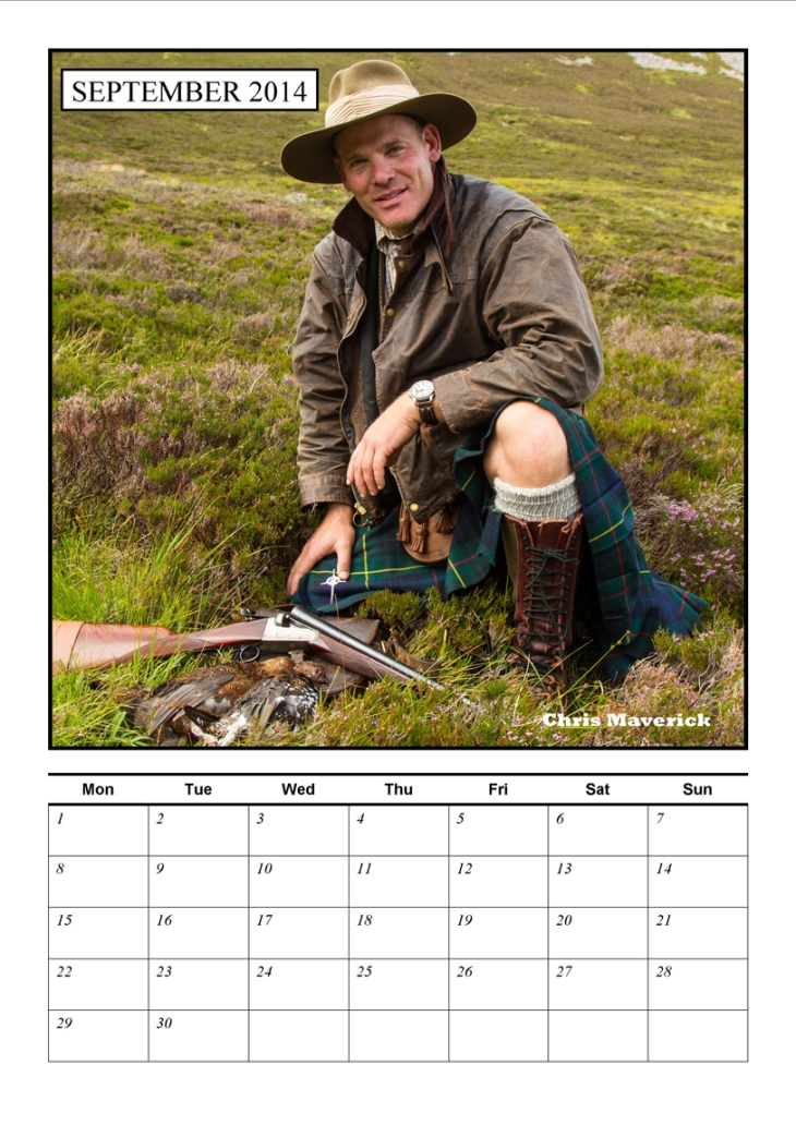 Chris is Mr September of my shooting and fishing men calendar 2014