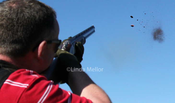 breaking clays - clay target shooting - smoking clays!