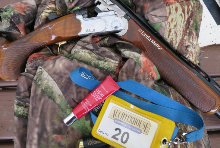 shooting still life by the lady trap shooter