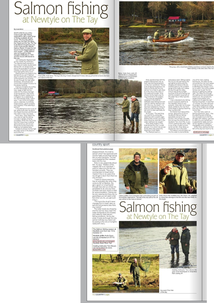 Salmon fishing magazine feature