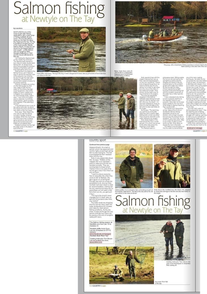 Salmon fishing magazine feature