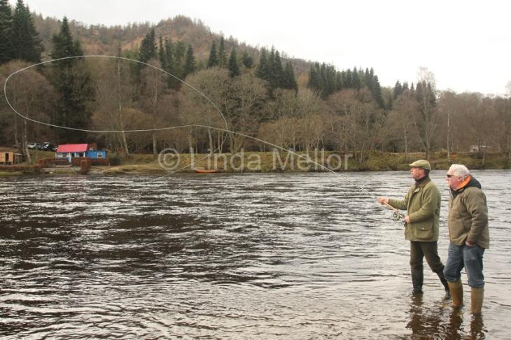 Salmon fishing on newtyle beat, Tay, Scotland