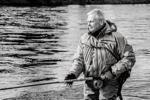 Ian Shaw, Angler, Salmon Fishing at Newtyle on The Tay
