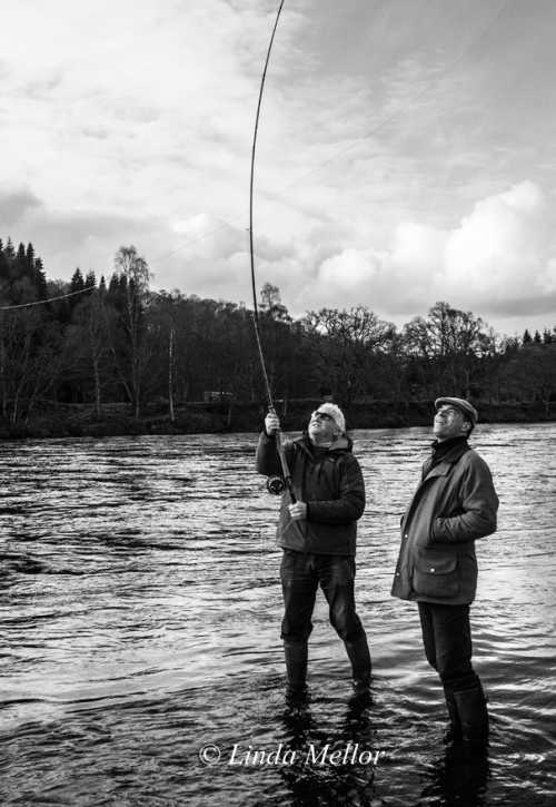 Casting Instructor Tom Brown and Newtyle Ghillie Andy Gunn