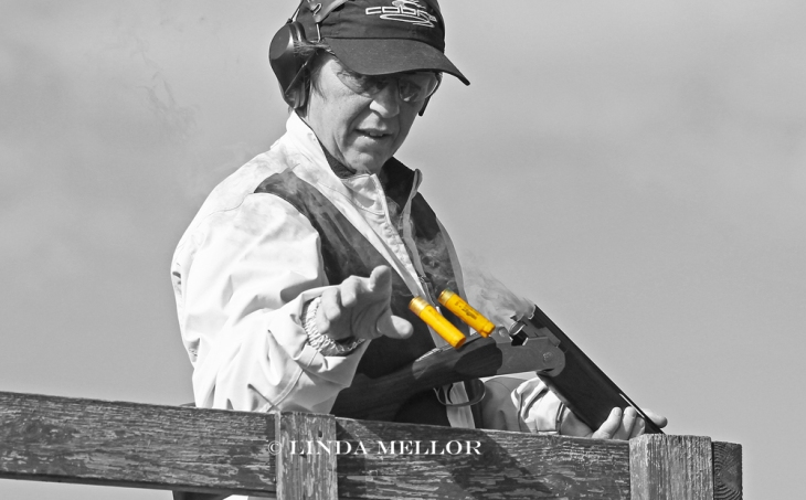ejecting_shells_colourised_black_and_white_clay_shooting