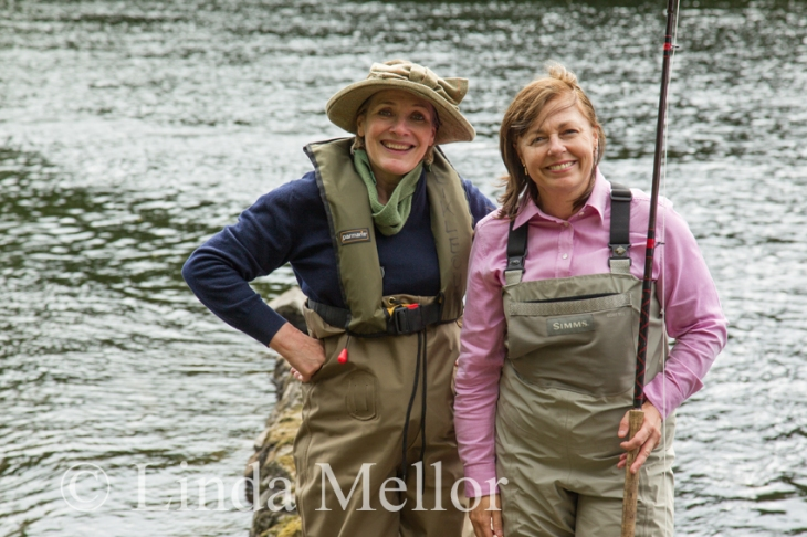 Casting for Recovery, Ladies fly fishing at Meikleour on the Tay