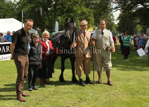 Fred Taylor Memorial Trophy for working stalking pony 2014 - winner David Allison