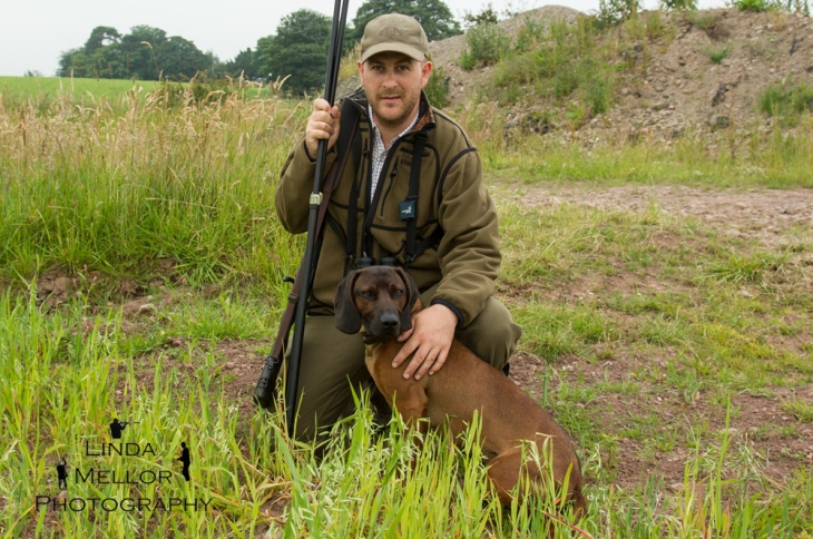 Mark Robson, deer stalker with Bavarian Mountain Hound, Fife