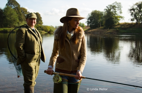 Lady Angler Claire, Meikleour beat, the Tay, Perthshire
